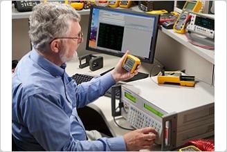 5502A Multi-Product Calibator in a calibration laboratory